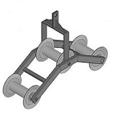 Подвесной угловой кабельный ролик РП 3-150У