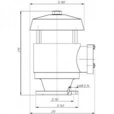 Клапан дыхательный механический с верхним расположением кассеты огнепреградителя КДМ-50М3