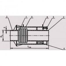 Компенсаторы сильфонные осевые неразгруженные в защитном кожухе модели 2КСО