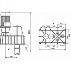 Мотор-редукторы цилиндрические двух и трехступенчатые 5Ц2-230, 5Ц3-320