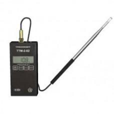 Портативный микропроцессорный измеритель скорости потока воздуха (термоанемометр) ТТМ-2-02
