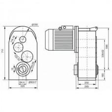 Мотор-редуктор цилиндрический трехступенчатый К3145
