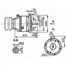 Мотор-редуктор планетарный двухступенчатый МПО-2М -15-В-2469-0,55/0,56-У3