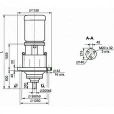 Мотор-редуктор планетарный трехступенчатый МР3-800