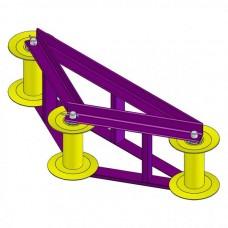 Ролик для прокладки кабеля угловой горизонтальный РПК 3-150УГ