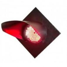 Головка светофорная светодиодная заградительного светофора красная