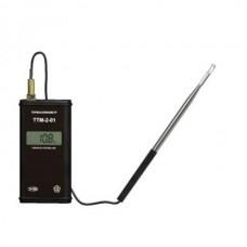 Портативный микропроцессорный измеритель скорости потока воздуха (термоанемометр) ТТМ-2-01